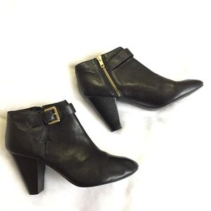 Dune London Leather Ankle Black Boots 40/9